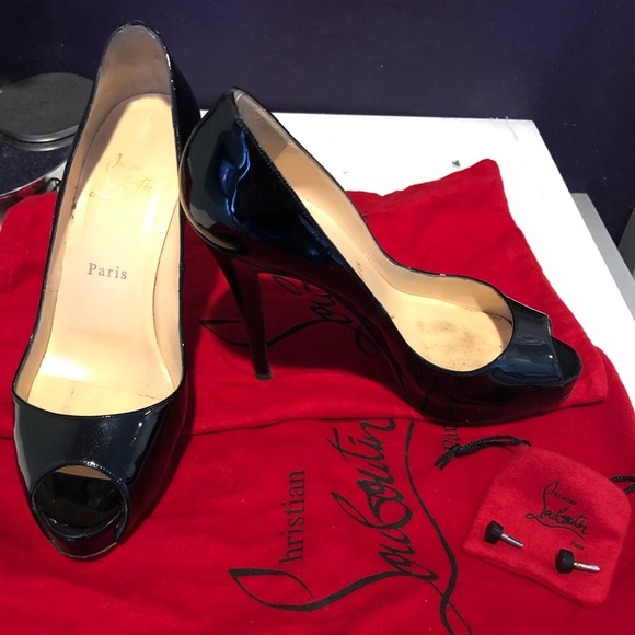Christian Louboutin Very Prive Black Shoes 120
